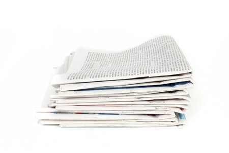 Newspapers isolated on white background Stock Photo - 8016930