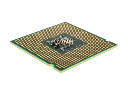 CPU isolated on white background Stock Photo - 8016935