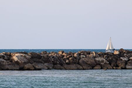 Sailing yaht on Mediterranian Sea Stock Photo - 8269803