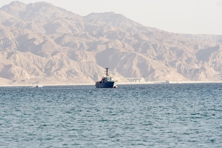 Military vessel on Red Sea photo