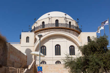The old  building in Jerusalem city photo