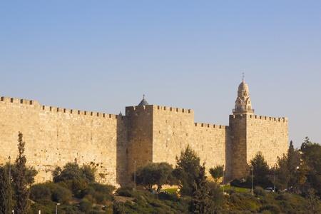Walls of the Jerusalem city Stock Photo