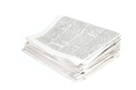 pile of newspapers: Newspapers isolated on white background