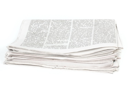 Newspapers isolated on white background photo