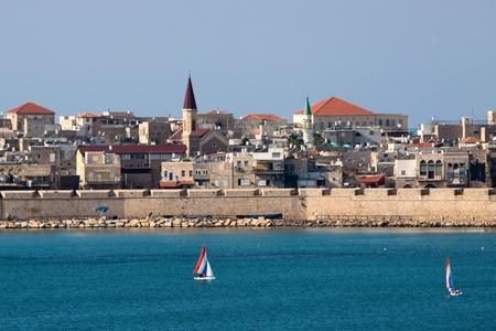 The mediterranean historic city of Akko in north Israel photo