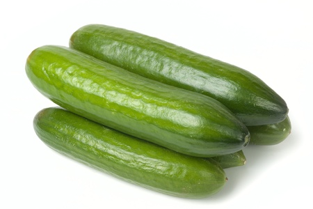 Cucumbers isolated on white background Imagens