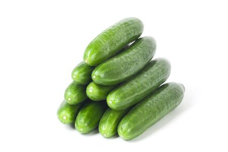 Cucumbers isolated on white background photo