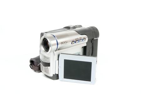Camcorder isolated on white background photo