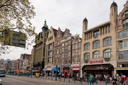 nederland: Damrak street, Amsterdam,  Nederland, 29.04.2009
