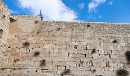 The wailing wall of Jerusalem city Stock Photo