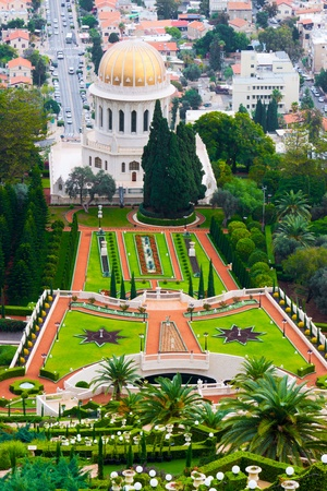 Bahai temple in Haifa, Israel