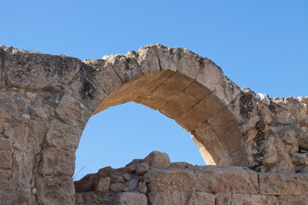 Arch in Crusader Church, Bet Guvrin, Israel Stock Photo - 12430570