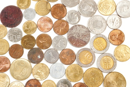 Coins isolated on white background Stock Photo - 13048344