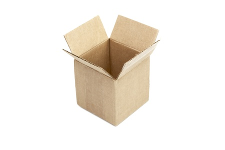 Opened package box isolated on white background Stock Photo - 13231624