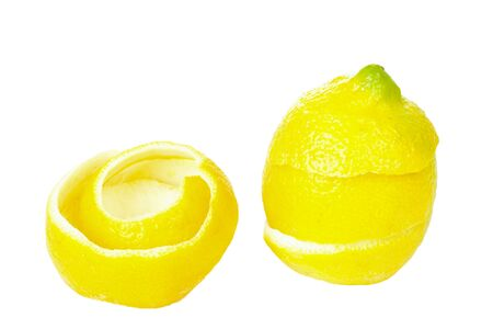 Lemons rind isolated on white background photo