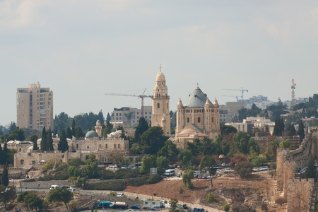 Dormition Abbey, mount Zion, Jerusalem, Israel photo
