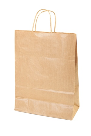 Paper shopping bag isolated on white background Stock Photo - 13563307