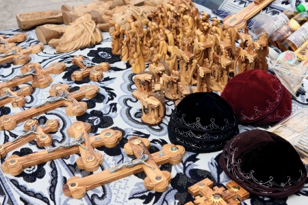 souvenirs: The souvenirs market in Jerusalem city Stock Photo