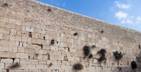 The wailing wall of Jerusalem city photo