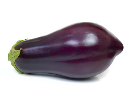 salubrious: Ripe aubergine isolated on white background Stock Photo