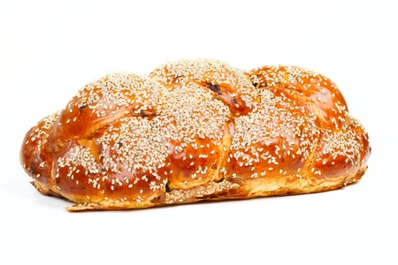 sabbath: The sabbath challah isolated on white background Stock Photo