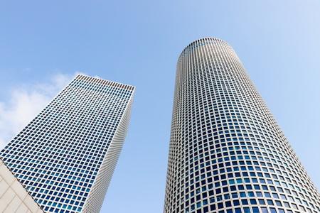 azrieli center: Azrieli Center, Tel-Aviv, Israel two buildings Editorial