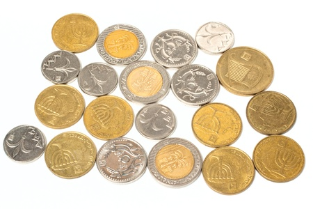 sheqel: Sheqel coins isolated on white background Stock Photo
