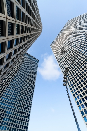 The Azrieli Center in Tel-Aviv  city, Israel, three buildings photo