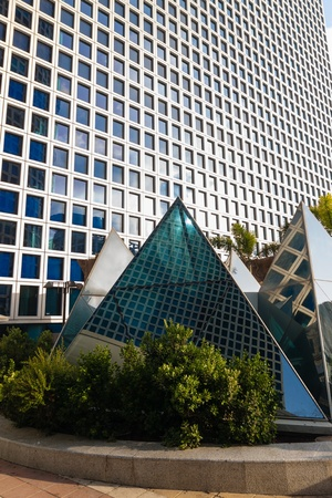 azrieli center: Azrieli Center, Tel-Aviv, pyramid on the roof of building Editorial