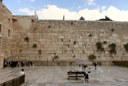 The wailing wall of Jerusalem city