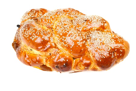 Bright challah isolated on white background Stock Photo - 16674664
