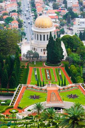 Bahai temple in Haifa, Israel photo