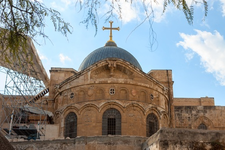 church of the holy sepulchre: Church of the Holy Sepulchre in Jerusalem, Israel Stock Photo