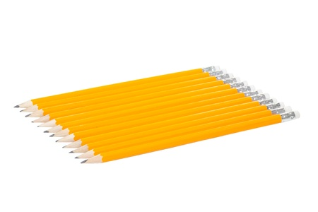 Twelve Pencils isolated on white background Stock Photo - 16949662