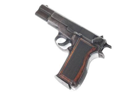 semi automatic: Gun isolated on white background Stock Photo