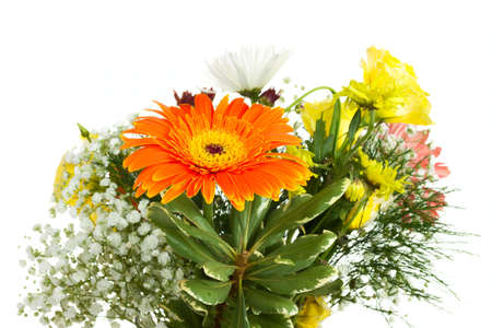 Bright bouquet isolated on white background Stock Photo - 17933317