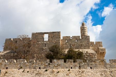 Tower of david, at the old city walls of Jerusalem, Israel photo