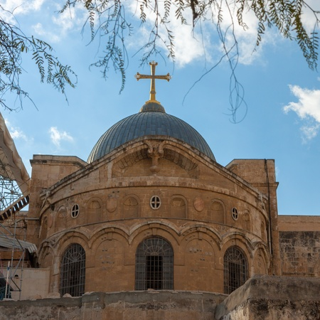 Ancient church of the Holy Sepulchre in Jerusalem, Israel photo
