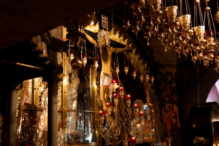 Mount Calvary, altar in Temple of the Holy Sepulchre, Jerusalem old city