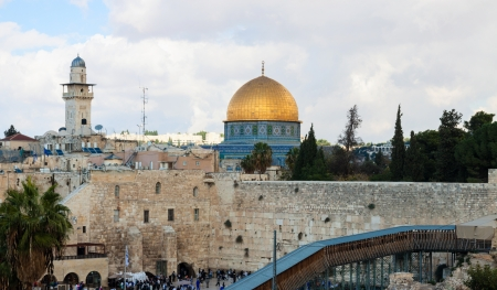 The Wailing wall and other buildings in Jerusalem, Israel Stock Photo - 18970215