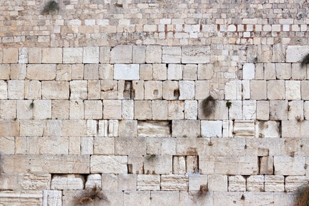 Western wall of the Temple of Jerusalem city, Israel Stock Photo