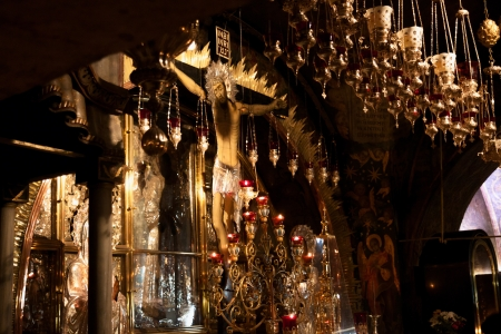 Mount Calvary, altar in Temple of the Holy Sepulchre, Jerusalem, Israel
