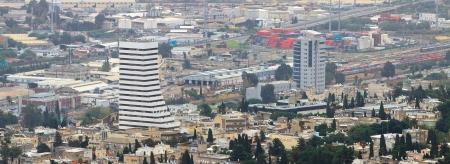 Haifa - 14-11-2011: Panorama of Haifa city from mount Carmel Stock Photo - 24483770