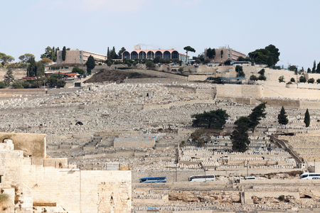 mount of olives: Mount Olives in Jerusalem, Israel