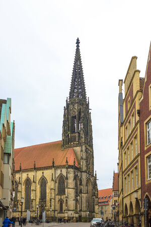 munster: Munster - Mar 2013  Ancient cathedral in Munster, North Rhine-Westphalia