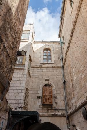 gospels: Ancient building on Via dolorosa street, Jerusalem, Israel
