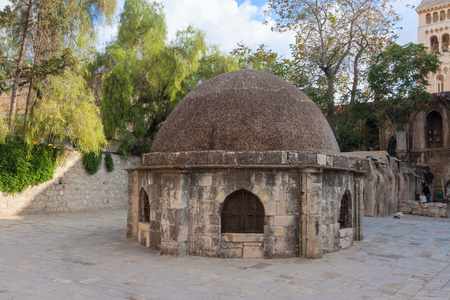 Small dome on ancient church of the Holy Sepulchre in Jerusalem  city, Israel photo
