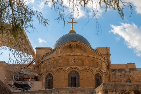 sepulchre: Ancient church of the Holy Sepulchre in Jerusalem  city, Israel