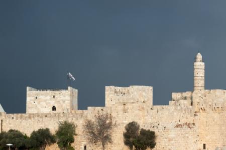 David tower and city wall of Jerusalem, Israel photo