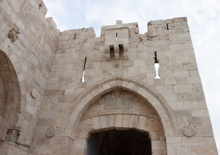 Jaffa gate in old city of Jerusalem